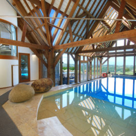 Luxuriate in the pool and hot tub