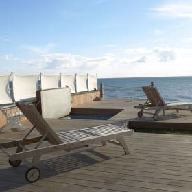 Beach, Terrace and Hot Tub