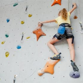 Bouldering, shopping and pampering