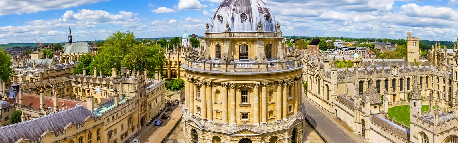 View from a church's tower with the Bodleian Libraryand All Souls College, Oxfordshire.
