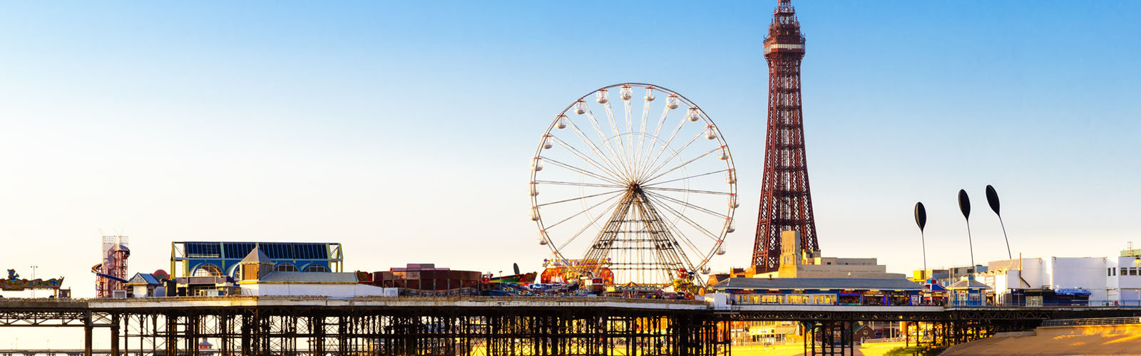 Blackpool Tower and Central Pier Ferris Wheel.