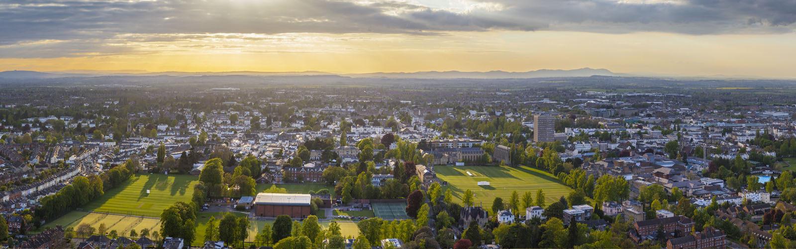 Panoramic view of cheltenham.