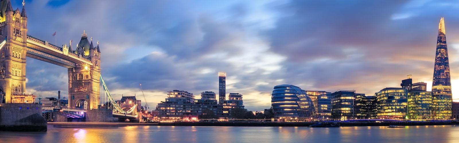 Tower Bridge at Sunset in London.