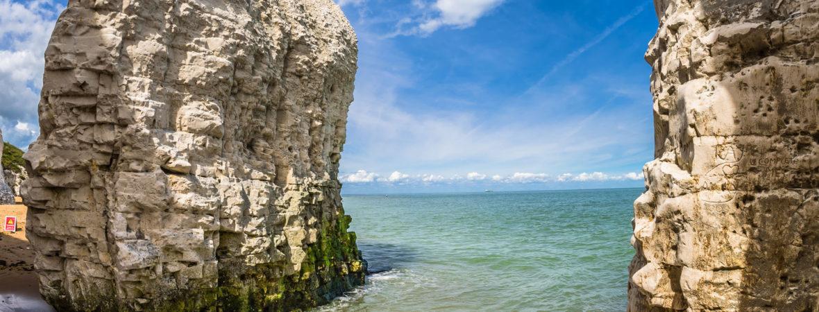 Kent coast line.