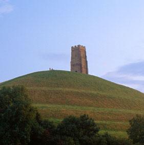 Glastonbury Tor on a summer's day.