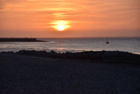 Sunset over Morecambe Bay, Lancashire.