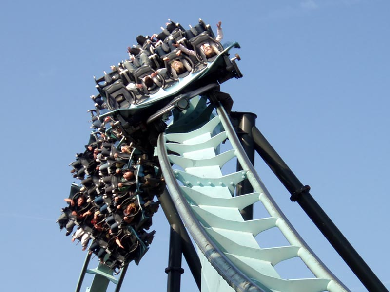 Alton Towers air rollercoaster.
