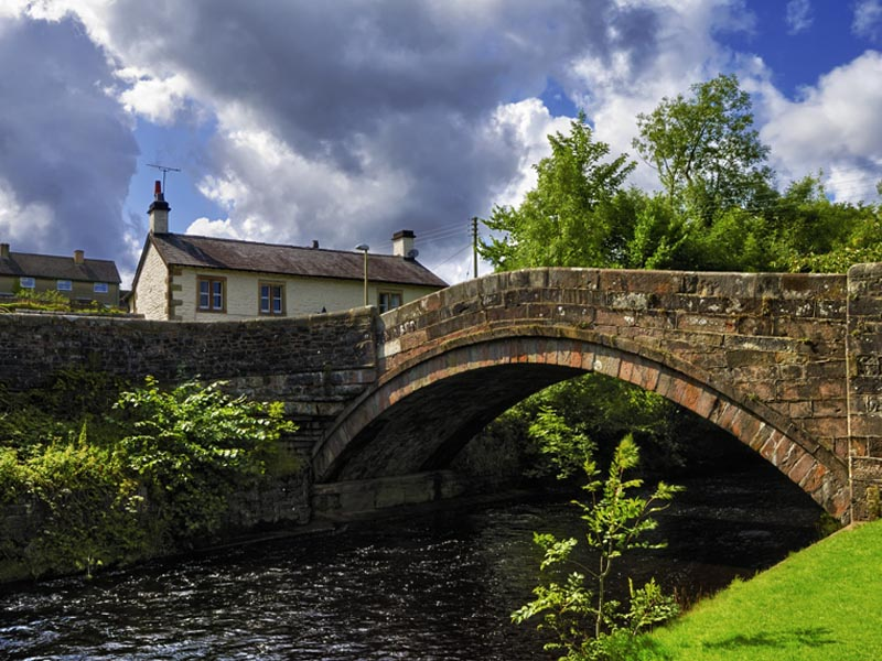 Dunsop bridge in the Forest of Bowland in Lancashire.