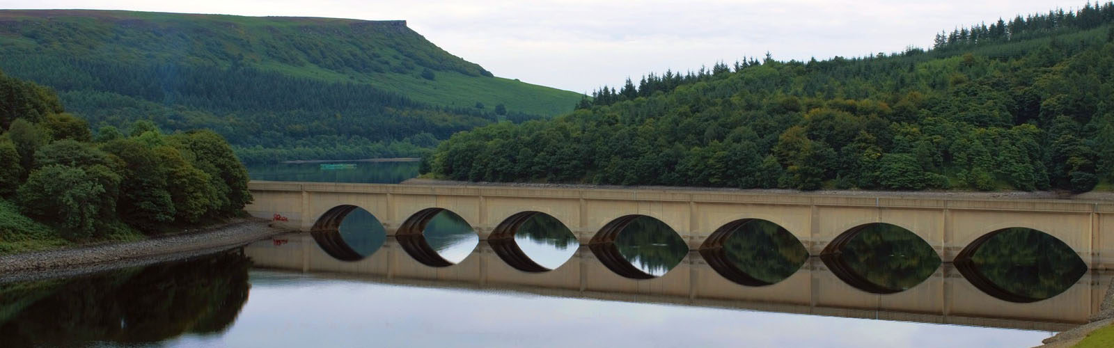 Reservoir Derbyshire Peak district.