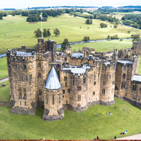 Alnwick castle, Scotland.