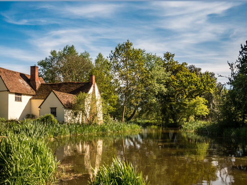 Flatford Mill, the scene painted by John Constable.