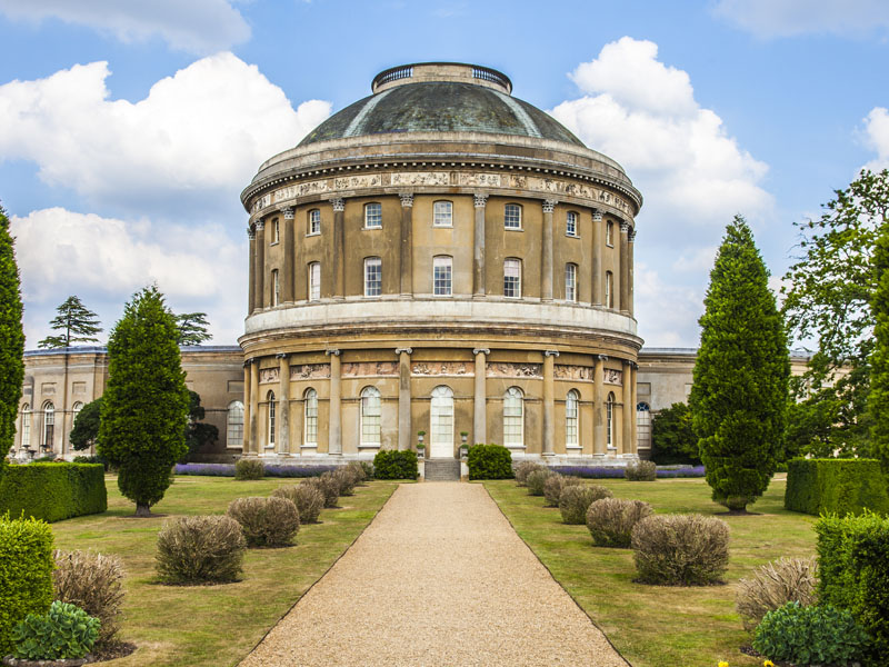 Ickworth House on a summer's day in Suffolk.