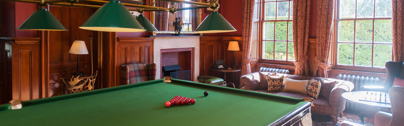 Large house with Snooker table.