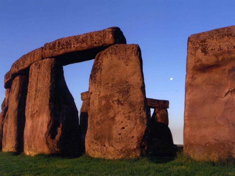 Stonehenge in the evening.