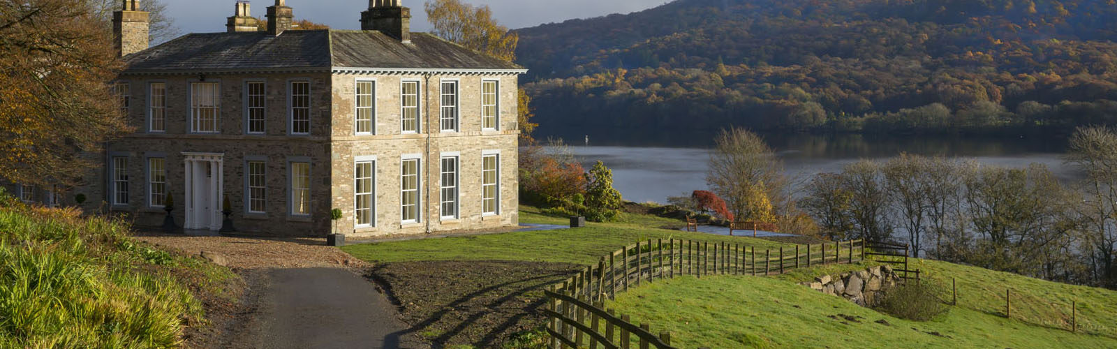 Large holiday cottage by a lake.