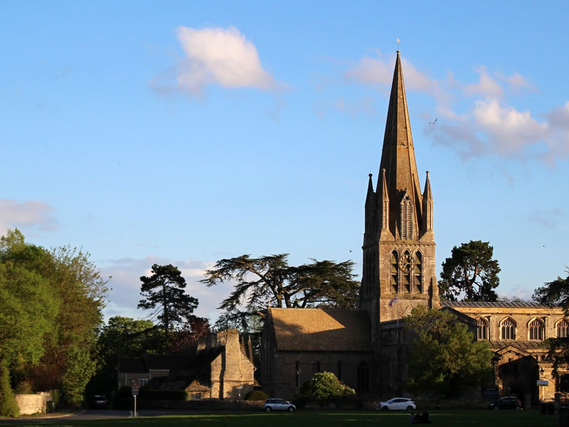 St. Mary's on the Green, the main and civic church for the town of Witney , Oxfordshire.