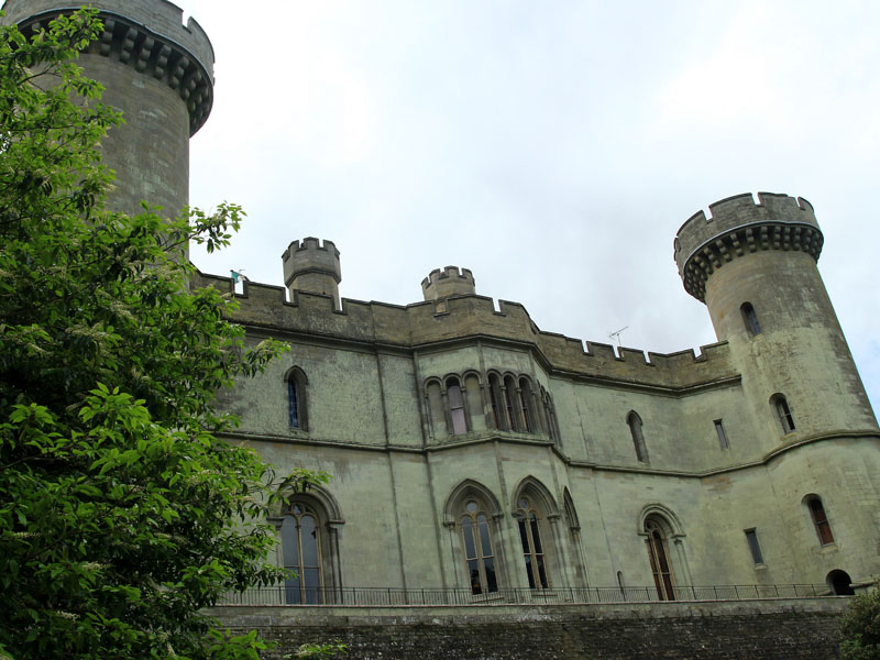 Looking up at Eastnor Castle.