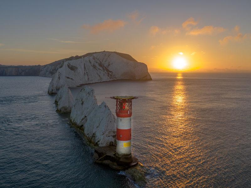 Sunrise the needles isle of wight