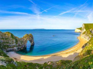 Durdle Door panorama, Dorset.
