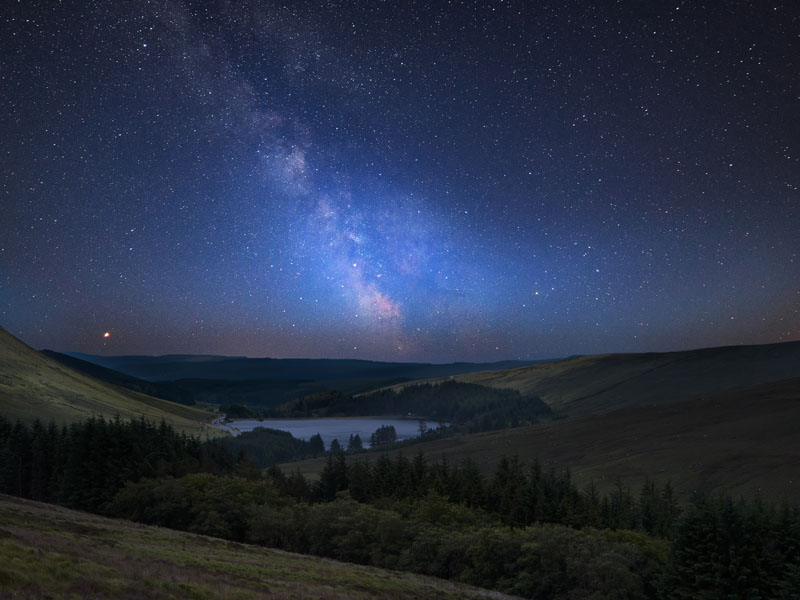 Brecon Beacons at night.