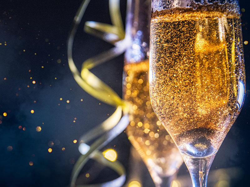 Party time with some champagne!